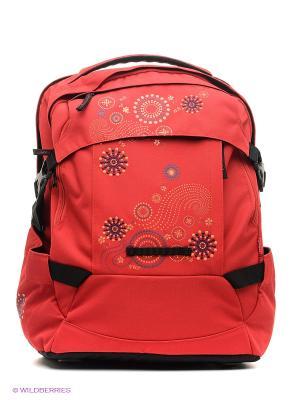 Рюкзак TIGHT FIT Геометрическое солнце 4you. Цвет: красный