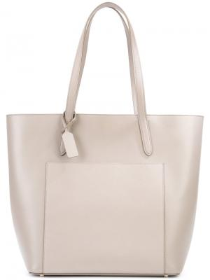 Panama East West tote bag Smythson. Цвет: серый