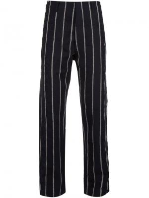 Striped trousers Uma Wang. Цвет: чёрный