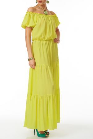 Платье Argent. Цвет: желтый