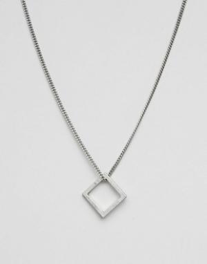 Icon Brand Серебристое ожерелье. Цвет: серебряный