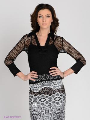 Блузка MELANY. Цвет: черный