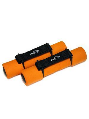 Гантель неопреновая STAR FIT DB-203 1 кг, оранжевая Starfit. Цвет: оранжевый