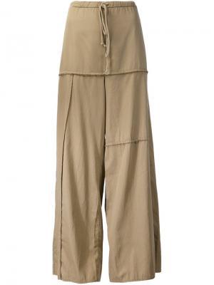 Широкие брюки с панельным дизайном Lost & Found Rooms. Цвет: телесный