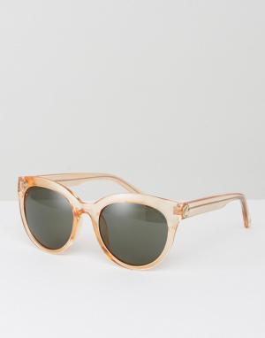 Kurt Geiger London Круглые солнцезащитные очки. Цвет: кремовый