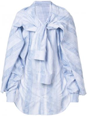 Рубашка с четырьмя рукавами Y / Project. Цвет: синий