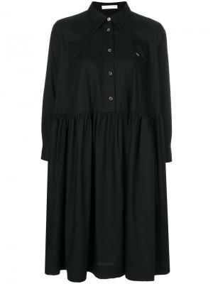 Свободное платье-рубашка Peter Jensen. Цвет: чёрный