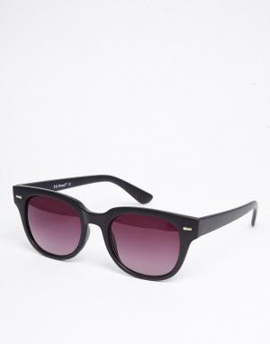 AJ Morgan Квадратные солнцезащитные очки в черной матовой оправе Match. Цвет: черный