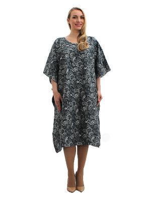 Платье - туника Lorentino. Цвет: серый