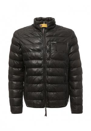 Куртка кожаная Parajumpers. Цвет: коричневый