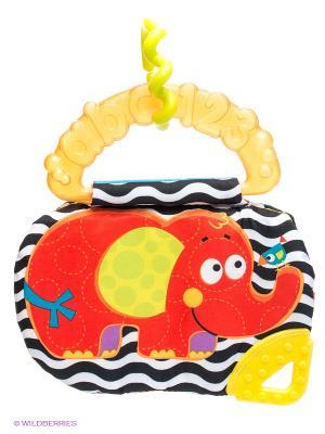 Playgro Книжка-прорезыватель Слоник. Цвет: оранжевый