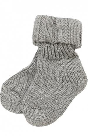 Вязаные носки Falke. Цвет: серый