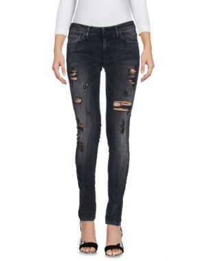 Джинсовые брюки MNML COUTURE. Цвет: стальной серый