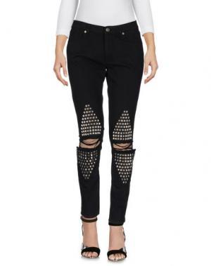 Джинсовые брюки GAëLLE Paris. Цвет: черный