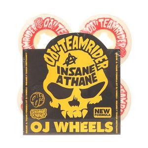 Колеса для скейтборда  Team Rider Ez Edge Insaneathane White/Red 101A 52 mm Oj. Цвет: белый,красный