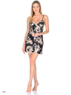Ночная сорочка MIA-AMORE. Цвет: черный