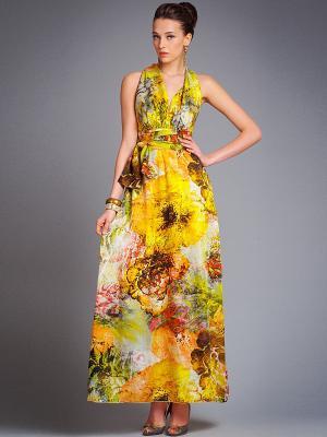 Платье Арт-Деко. Цвет: желтый