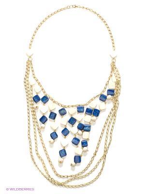 Ожерелье ГАНГ. Цвет: синий