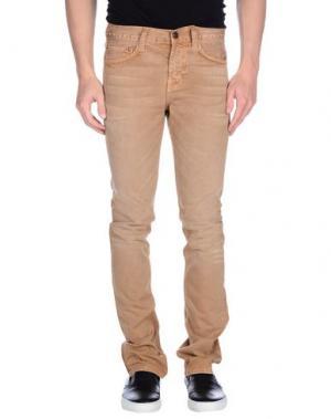Джинсовые брюки J BRAND. Цвет: песочный