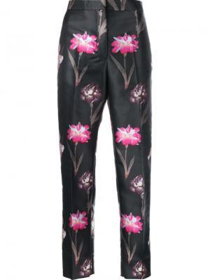 Укороченные брюки с цветочным принтом Rochas. Цвет: многоцветный