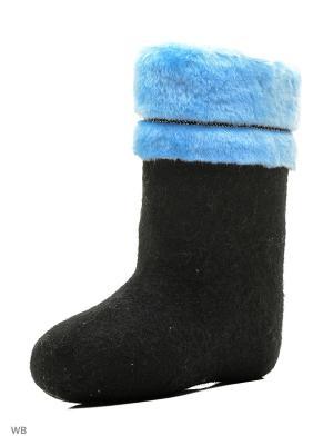 Валенки Кукморский валяльно-войлочный комбинат. Цвет: черный, голубой
