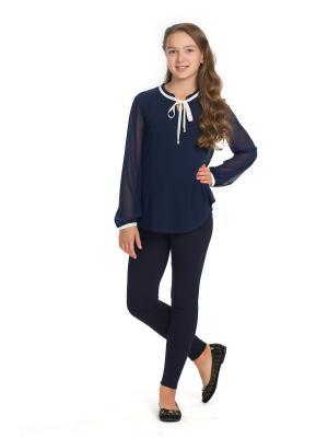 Блузка BLAUZ. Цвет: синий