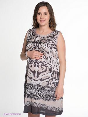 Платье Love2Wait. Цвет: серый, черный