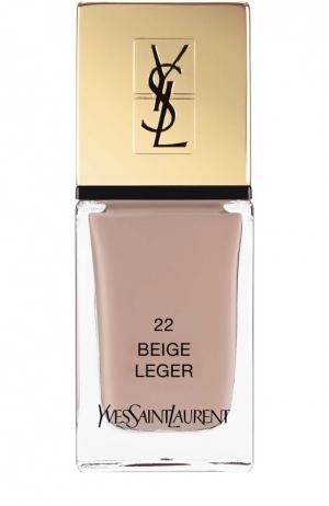 Лак для ногтей La Laque Couture, оттенок 22 YSL. Цвет: бесцветный