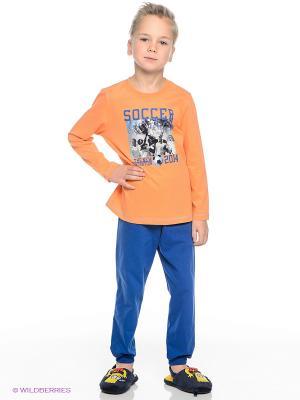 Пижама Sanetta. Цвет: синий, оранжевый