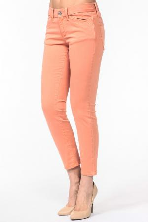 Капри MIX JEANS. Цвет: персиковый