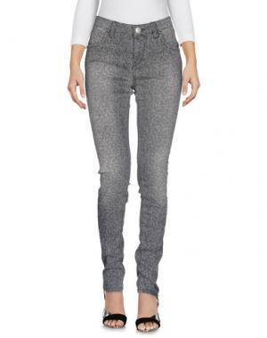 Джинсовые брюки RE-HASH. Цвет: серый