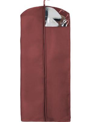 Чехол для пальто, дубленок и шуб Рыжий кот. Цвет: бордовый