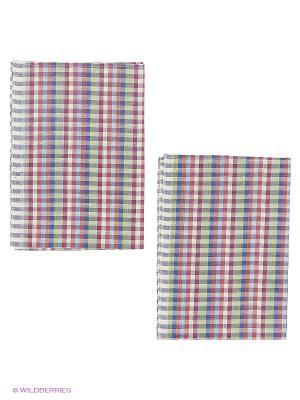 Набор полотенец лен Метиз. Цвет: красный, зеленый