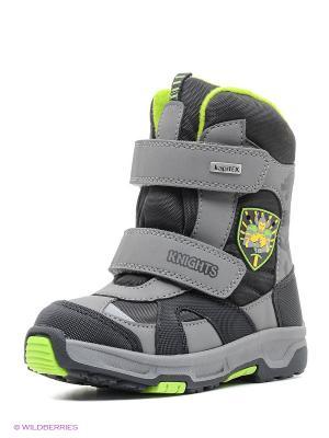 Ботинки Kapika. Цвет: черный, зеленый, серый