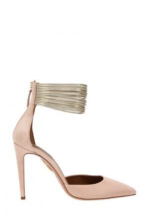 Замшевые туфли Hello Lover Aquazzura. Цвет: розовый