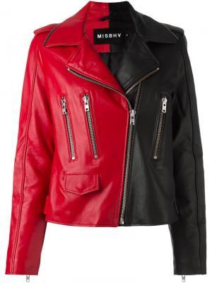 Кожаная куртка Misbhv. Цвет: чёрный