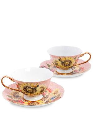 Чайный н-р на 2 перс Дольче Вита  (Pavone) Pavone. Цвет: розовый