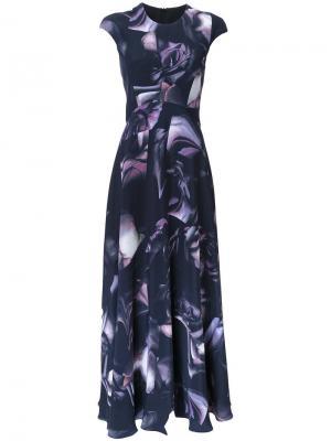 Платье Antique Rose Bianca Spender. Цвет: синий
