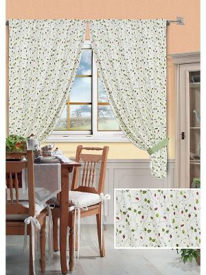 Комплект штор Fresitas-S Kauffort. Цвет: белый, зеленый