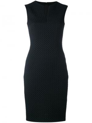 Fitted sleeveless dress Talbot Runhof. Цвет: чёрный