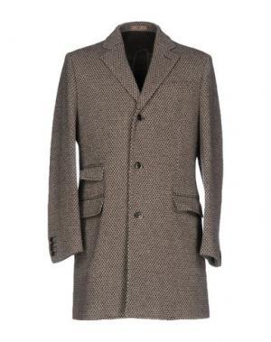 Пальто FRADI. Цвет: серый