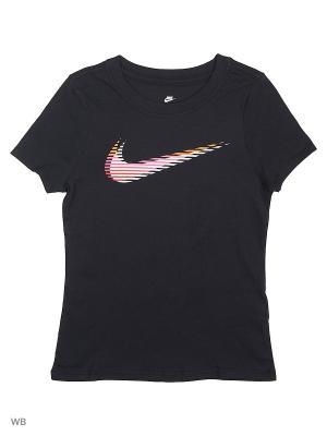 Футболка G NSW TEE LENTIC SWOOSH Nike. Цвет: черный, розовый