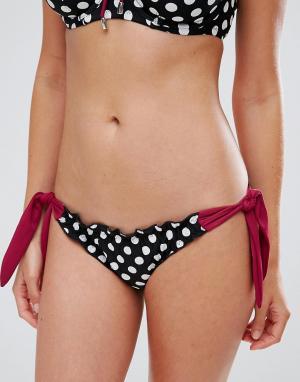 Pour Moi Плавки бикини в горошек с завязками по бокам Starboard. Цвет: мульти