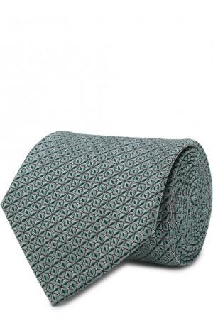Шелковый галстук с узором Lanvin. Цвет: зеленый