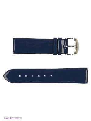 Ремень для часов, ЛАК без строчки J.A. Willson. Цвет: темно-синий