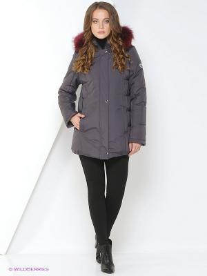 Куртка JASMIN Maritta. Цвет: сливовый
