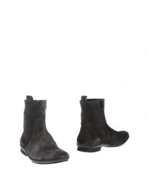 Полусапоги и высокие ботинки SIMONE MARIOTTI. Цвет: стальной серый