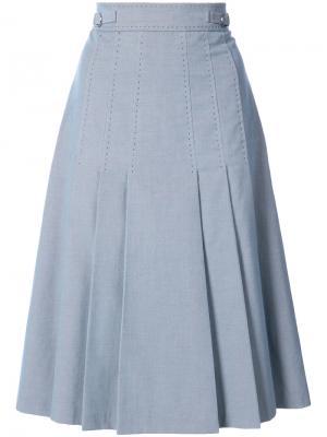 Плиссированная юбка Gabriela Hearst. Цвет: синий