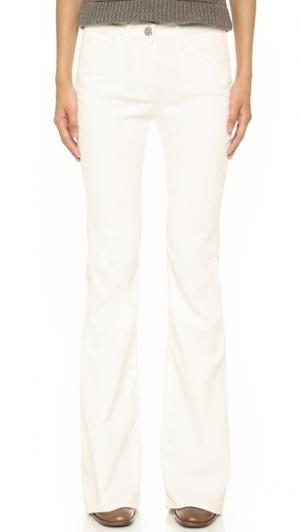 Расклешенные брюки из вельвета W25 3x1. Цвет: белый