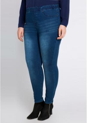 Брюки джинсовые bestiadonna. Цвет: синий (темно-синий)